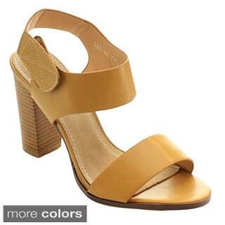 Miim Women's Lea-02 Velcro Strap Heels