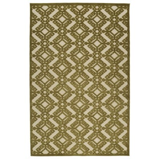Indoor/Outdoor Luka Olive Nomad Rug (7'10 x 10'8)