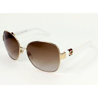 Gucci Women's 4242/S Metal Rectangular Sunglasses