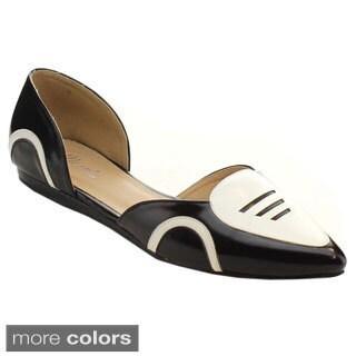 Miim Women's Cooper-01 D'Orsay Cute Ballet Flats