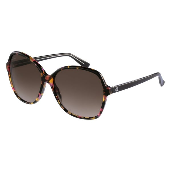 Gucci Women's 3721/S Plastic Rectangular Sunglasses
