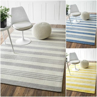 nuLOOM Handmade Stripes Wool/ Cotton Runner Rug (2'6 x 8')