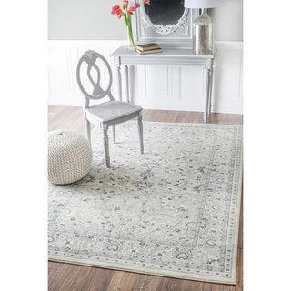 nuLOOM Traditional Vintage Abstract Cream Rug (7'10 x 11')