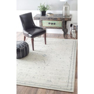 nuLOOM Traditional Abstract Vintage Cream Rug (7'10 x 11')