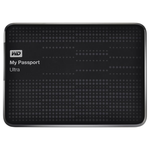 WD My Passport Ultra WDBZFP0010BBK-NESN 1 TB External Hard Drive (As Is Item)