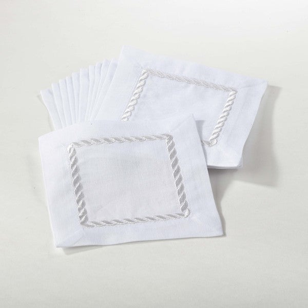 Linen Hemstitch Cocktail Napkins