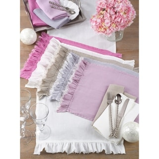 Ruffled Design Placemat (Set of 4)