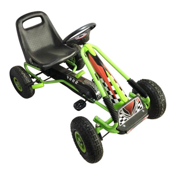 Vroom Rider Green Racing Pedal Go-Kart with Pneumatic Tire