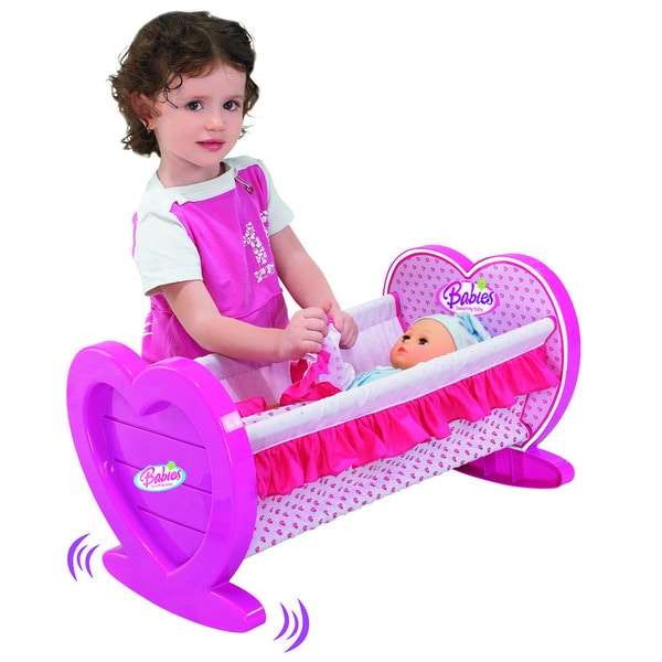 Babies Doll Lovely Rocking Cradle