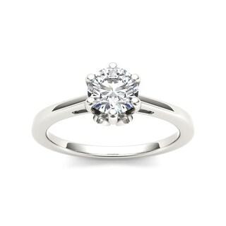 De Couer 14k White Gold 1ct TDW Diamond Solitaire Ring (H-I, I2)