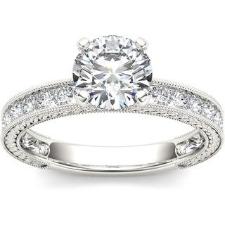 De Couer 14k White Gold 1 1/2ct TDW Diamond Classic Engagement Ring (H-I, I2)