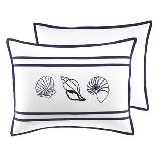 Croscill Montego Bay Nautical White and Blue King Sham