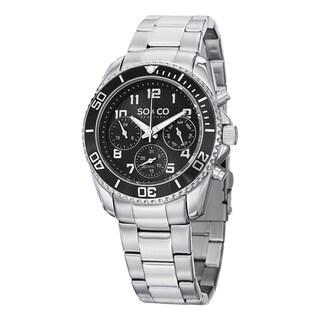 SO&CO New York Men's Quartz Yacht Club Stainless Steel Watch