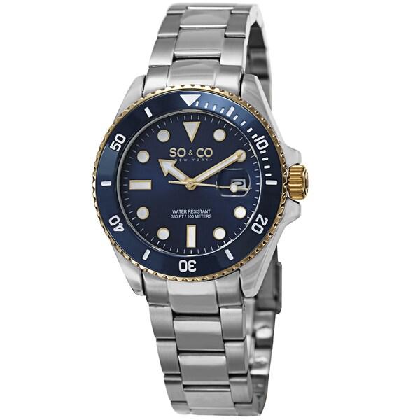 SO&CO New York Men's Yacht Club Stainless Steel Quartz Watch