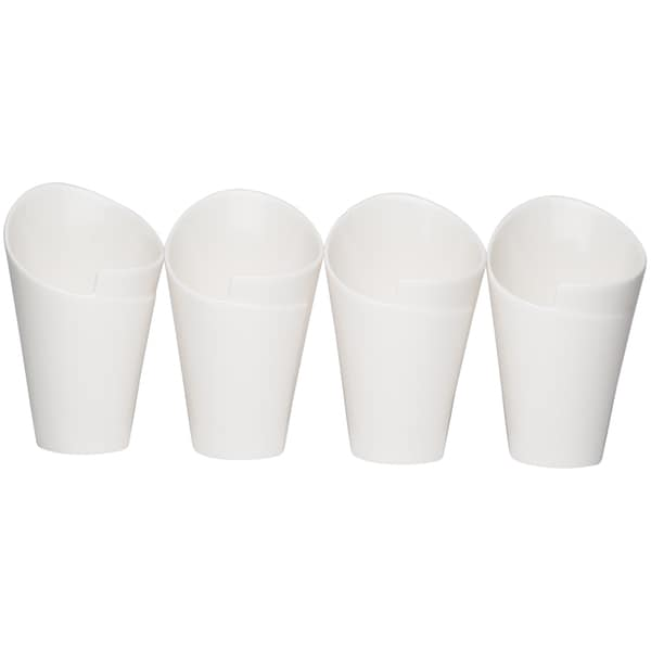 Whisper White Cone Sauce 5-inch Dish (Set of 4)