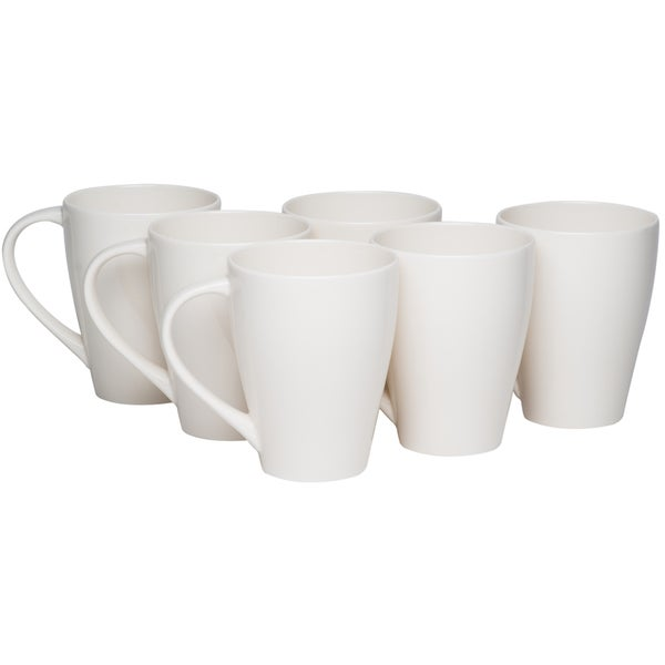 Red Vanilla Whisper White 14-ounce Mug (Set of 6)