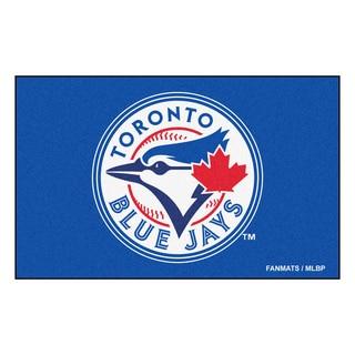 Fanmats Machine-made Toronto Blue Jays Blue Nylon Ulti-Mat (5' x 8')
