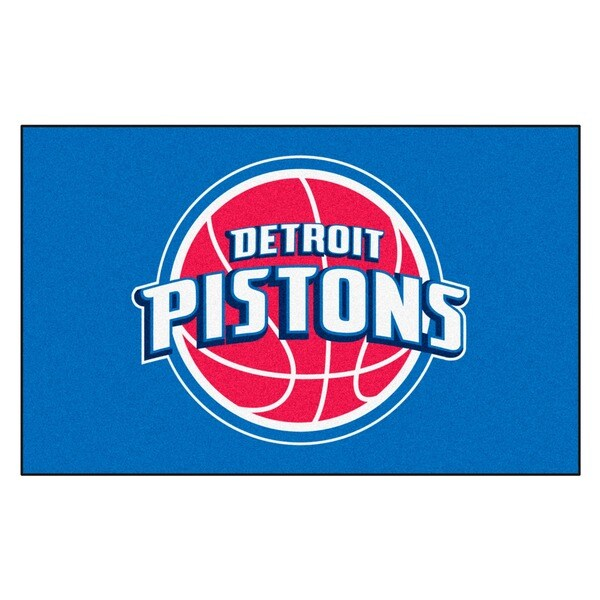 Fanmats Machine-made Detroit Pistons Blue Nylon Ulti-Mat (5' x 8')
