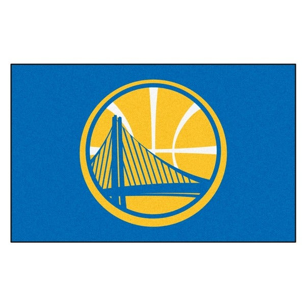 Fanmats Machine-made Golden State Warriors Blue Nylon Ulti-Mat (5' x 8')