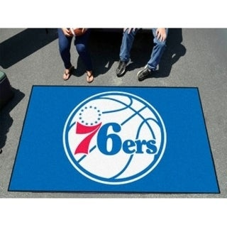 Fanmats Machine-made Philadelphia 76ers Red Nylon Ulti-Mat (5' x 8')