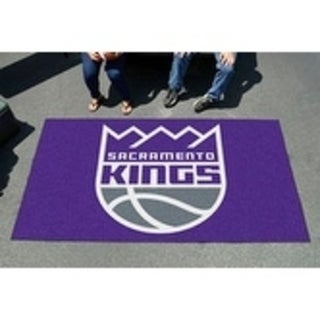 Fanmats Machine-made Sacramento Kings Black Nylon Ulti-Mat (5' x 8')