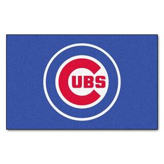 Fanmats Machine-made Chicago Cubs Blue Nylon Ulti-Mat (5' x 8')