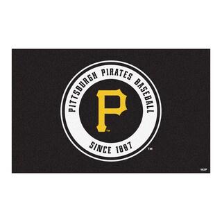 Fanmats Machine-made Pittsburgh Pirates Black Nylon Ulti-Mat (5' x 8')