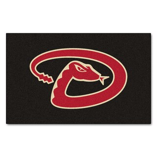 Fanmats Machine-made Arizona Diamondbacks Black Nylon Ulti-Mat (5' x 8')