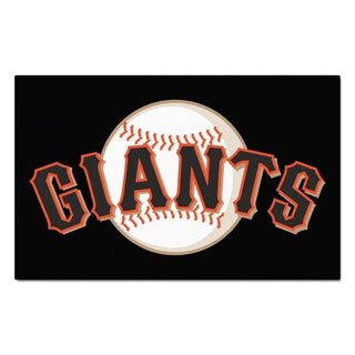 Fanmats Machine-made San Francisco Giants Black Nylon Ulti-Mat (5' x 8')