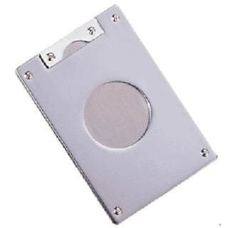 Visol RhiYes Silver Satin Single Blade Cigar Cutter