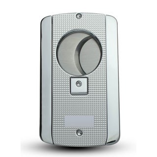 Visol Axe Double Blade Guillotine Cigar Cutter - Patterned Chrome