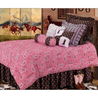 HiEnd Accents Pink Paisley 6-Piece Bedding Set