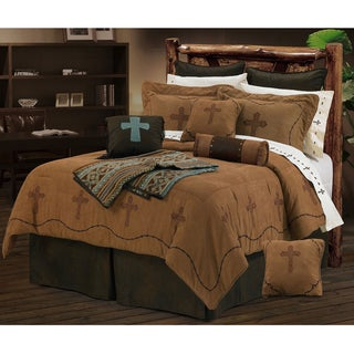 HiEnd Accents Barbwire Crosses 7-Piece Comforter Set