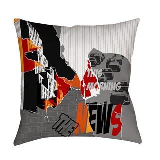 Thumbprintz The News Indoor/ Outdoor Pillow