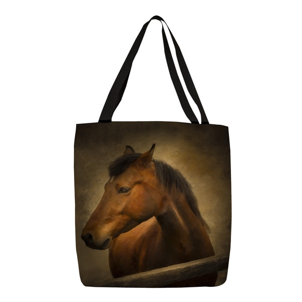 Thumbprintz Chestnut Horse at Fence Tote