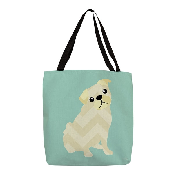 Thumbprintz Chevron Pug Tote