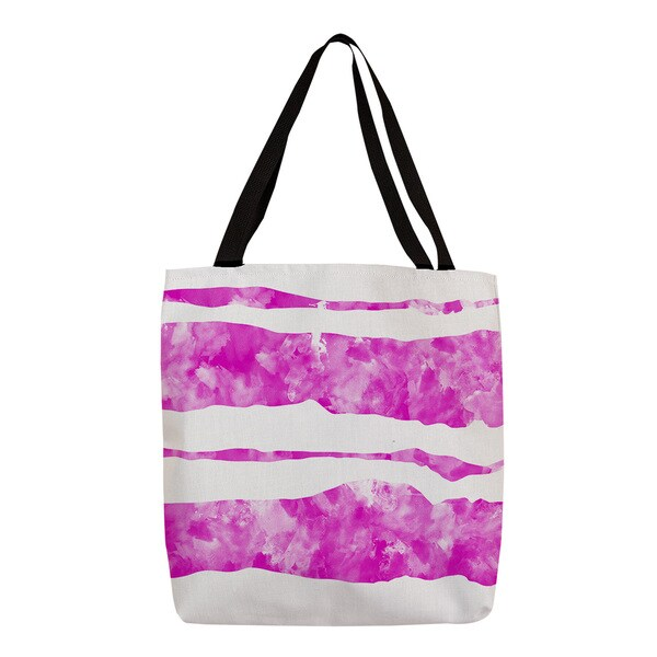 Thumbprintz Summer Florals Pink Stripe Tote