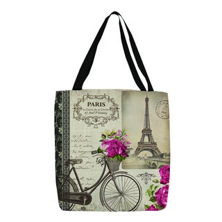 Thumbprintz Springtime in Paris Bicycle Tote