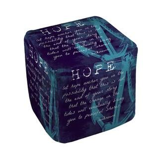 Thumbprintz Let Hope Anchor You Pouf