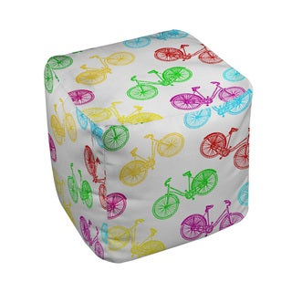 Thumbprintz Neon Party Bike Pattern Pouf