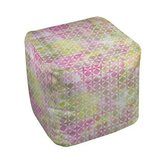 Thumbprintz Summer Florals Pattern II Pouf