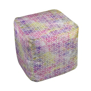 Thumbprintz Summer Florals Pattern III Pouf