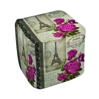 Thumbprintz Springtime in Paris All Roses Pouf