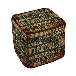 Thumbprintz Football Words Pouf