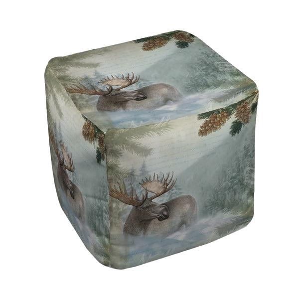 Thumbprintz Conifer Lodge Moose Pouf