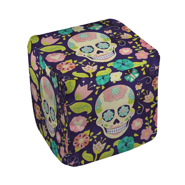 Thumbprintz Sugar Skull Pouf