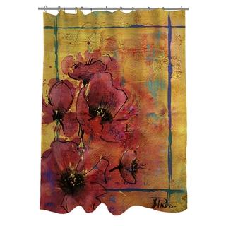 Thumbprintz Artistic Poppy I Shower Curtain