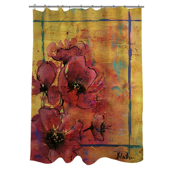 Thumbprintz Artistic Poppy I Shower Curtain