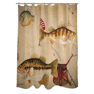 Thumbprintz Fish and Lures Shower Curtain