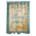 Thumbprintz Memories at the Beach Shower Curtain